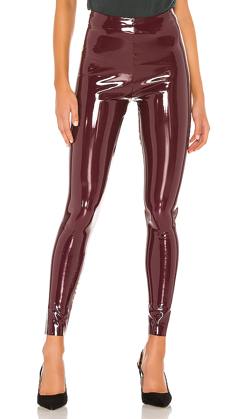 Commando Patent Leggings in Burgundy | REVOL