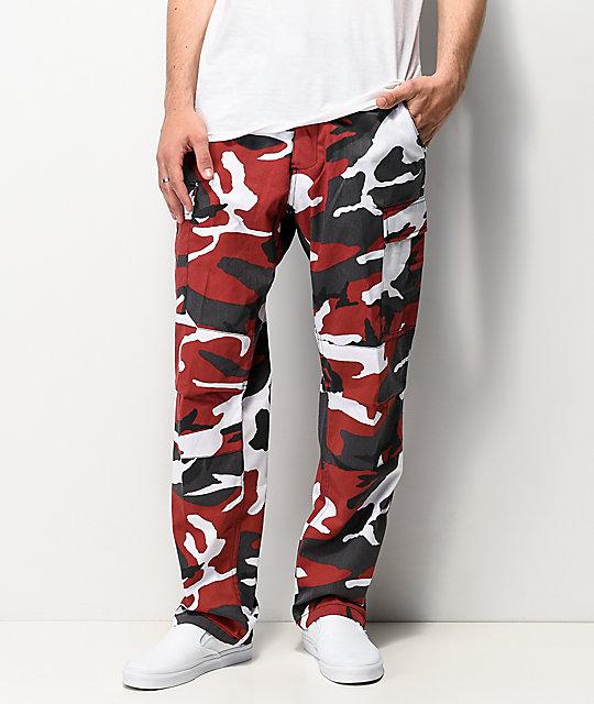 Rothco BDU Tactical Red Camo Cargo Pants | Zumi