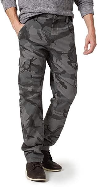 Wrangler Anthracite Camo Regular Taper Cargo Pants at Amazon Men's .