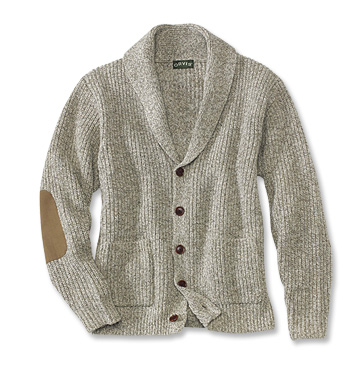 Men's Wool-Blend Shawl Collar Cardigan Sweater - Orv
