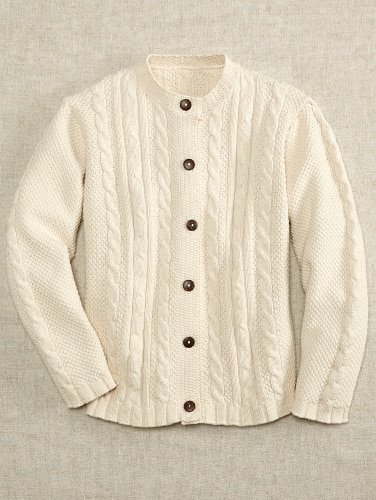 Womens Cable Knit Cardigan   Cott