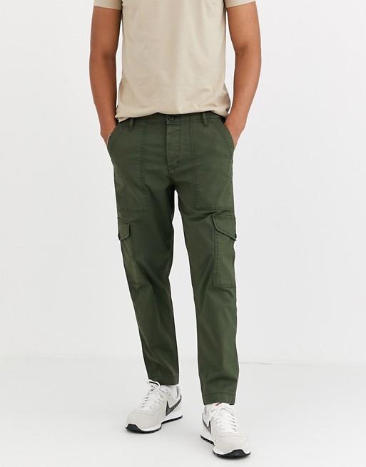 Selected Homme cargo pants in dark green | AS
