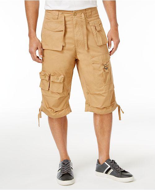 "Sean John Men's Classic Flight Cargo 14"" Shorts, Created for ."
