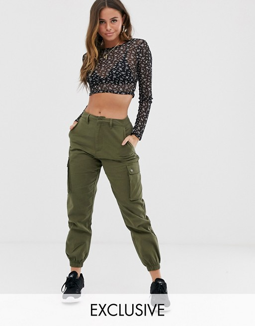 Wednesday's Girl cargo trousers with pockets | AS
