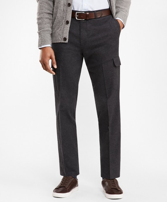 Cotton Twill Cargo Trousers | Brooks Brothe