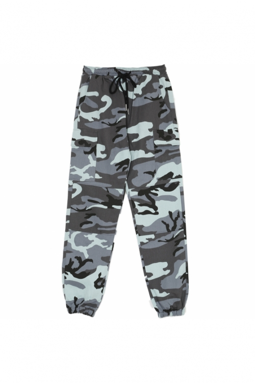 Sixth June camouflage cargo trousers blue | SIXTH JUNE offici