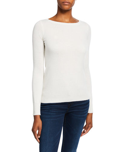 White Cashmere Sweater | Neiman Marc