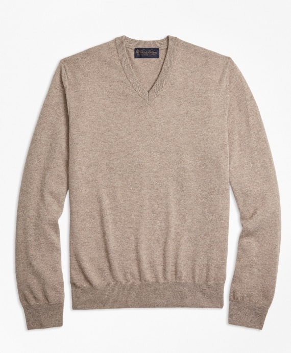 V-Neck Cashmere Sweater - Brooks Brothe