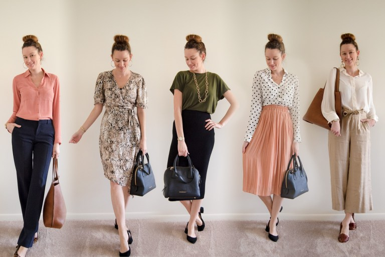 One Week of Business Casual Work Outfits - The Charming Detroit