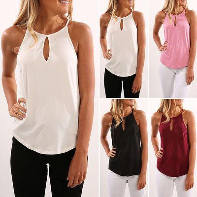 New Women's Summer Vest Tops Shirt Blouse Casual Tank Tops Shirts .