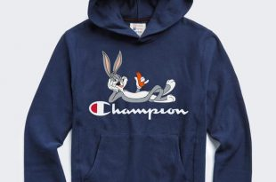 Champion + Looney Tunes Bugs Bunny Hoodie in Marine Blue - Todd Snyd