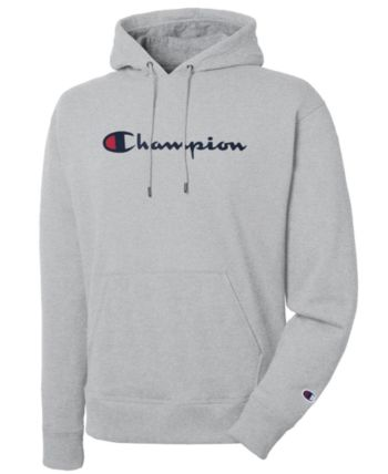 Champion Men's Script Logo Powerblend Hoodie & Reviews - Hoodies .