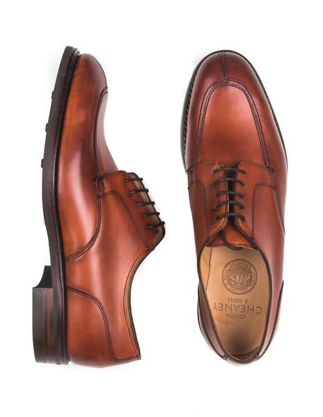 JOSEPH CHEANEY - Chiswick Derby Shoes in Dark Leaf Calf Leather in .