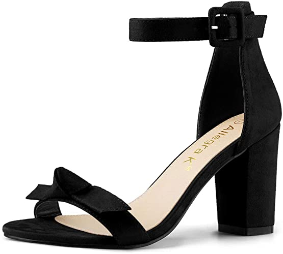 Amazon.com | Allegra K Women's Chunky Heels Ankle Strap Sandals .
