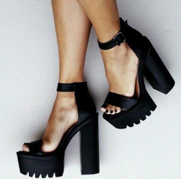 Jeffrey Campbell Fabou Platform - Black | High heels, Heels .
