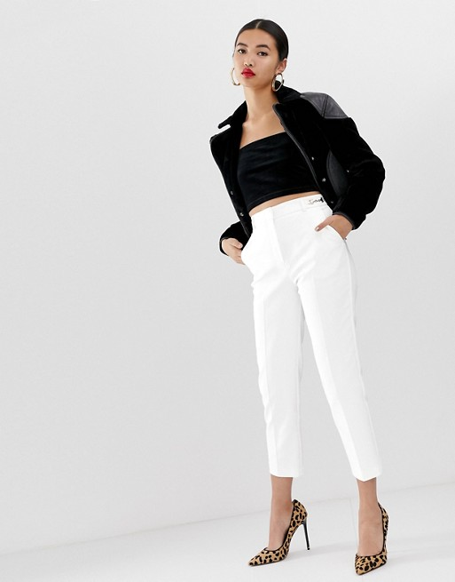 River Island cigarette pants in white | AS