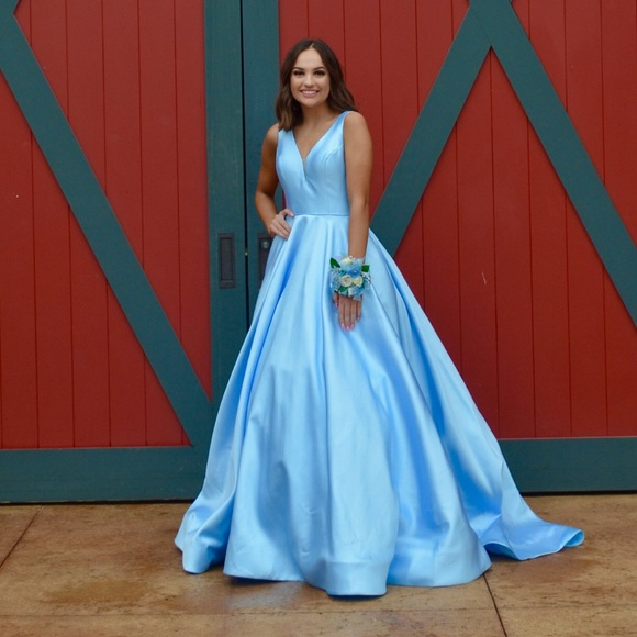 Sherri Hill Dresses | Baby Blue Cinderella Prom Dress | Poshma