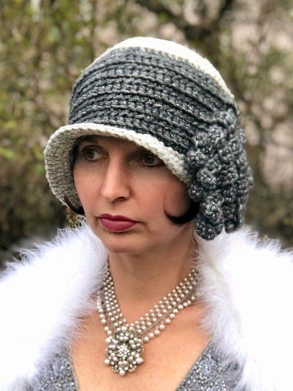 Crochet Cloche Hat Pattern BABYLON BERLIN de Luxe 1910 1920s 1930s .
