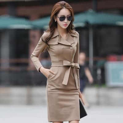 Qoo10 - Long hips long trench coat dress : Women's Fashi