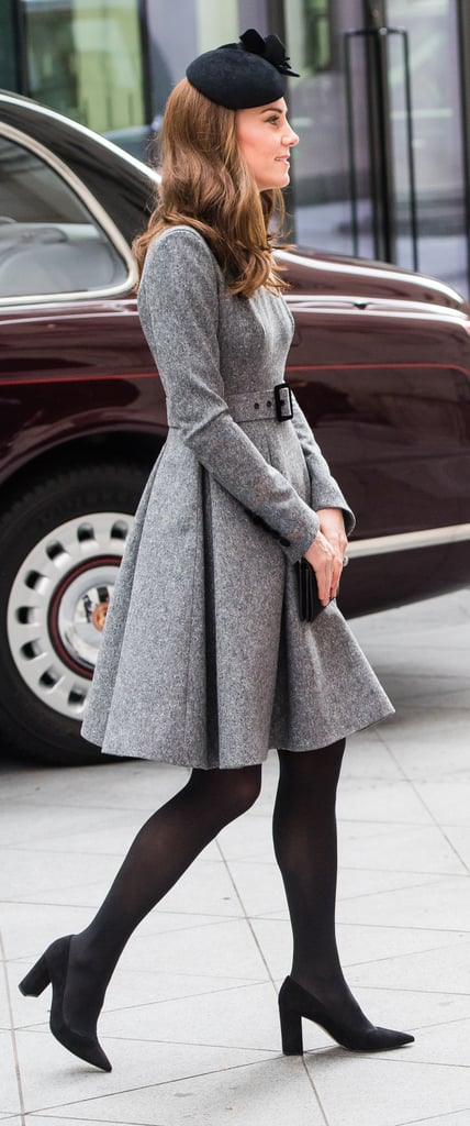 Kate Middleton Gray Coat Dress March 2019 | POPSUGAR Fashion .