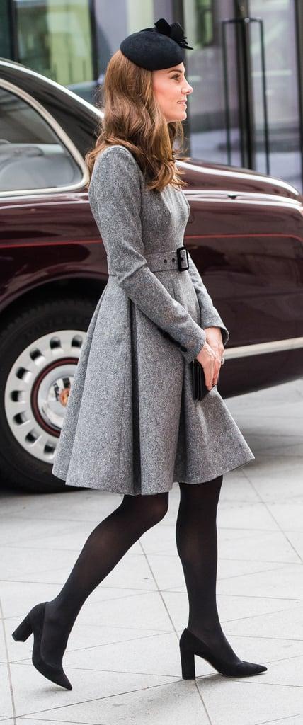 Kate Middleton Gray Coat Dress March 2019 | POPSUGAR Fashion .