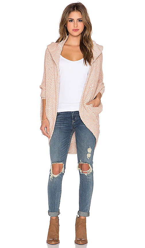 Free People Coco Cocoon Cardigan in Ivory Combo | REVOL