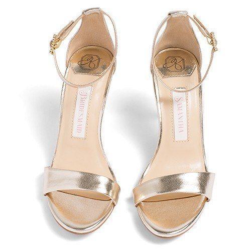 comfortable wedding shoes, bridal heels, bride flat, vera, gold .