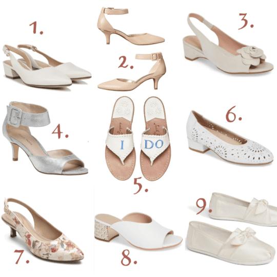 9 Stylish yet Comfortable Wedding Shoes and Sanda