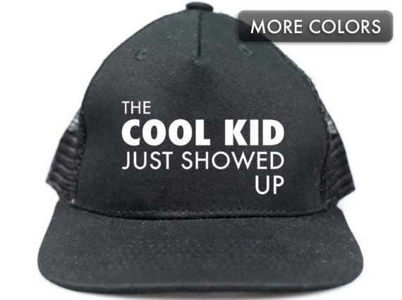 Kid's Cool Kid Snapback Trucker Hat for Kids Flat Bill | Et