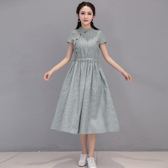 Aliexpress Com Buy Women Summer Dress Short Sleeve Dresses Cotton .