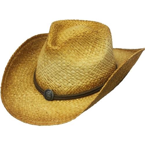 Men's Straw Raffia Cowboy Hats - Henschel Hiker H