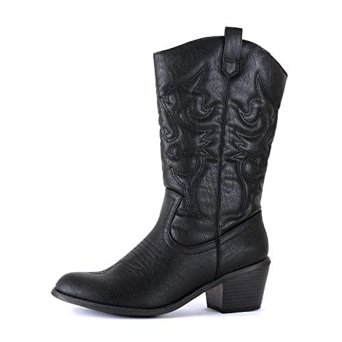 Black Cowgirl Boots: Amazon.c
