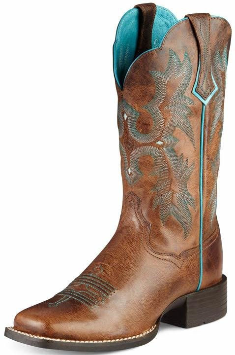 """Ariat Women's Tombstone 11"""" Cowgirl Boots - Sassy Bro"""