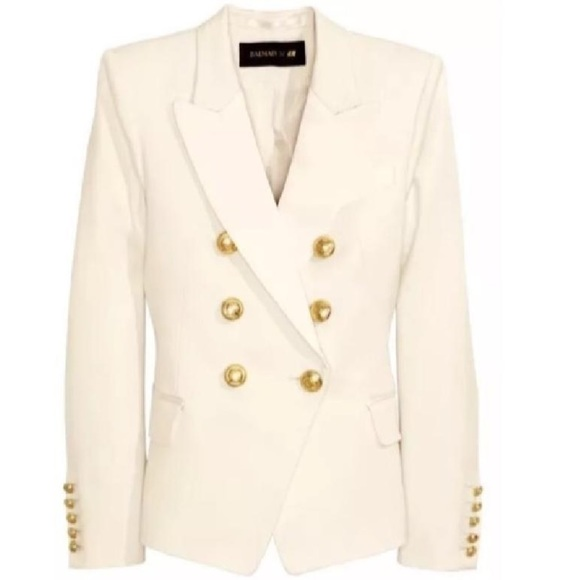 Balmain x H&M Jackets & Coats | Balmain Cream Jacket | Poshma