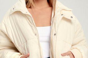 Cute Puffer Jacket - Cream Jacket - Cream Puffer Jack