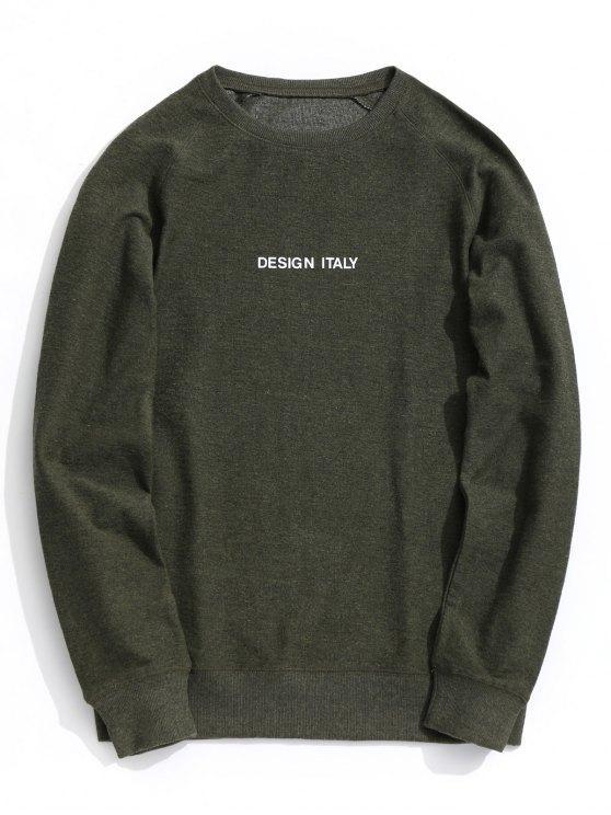 34% OFF] 2020 Letter Crew Neck Sweatshirt In ARMY GREEN | ZAF