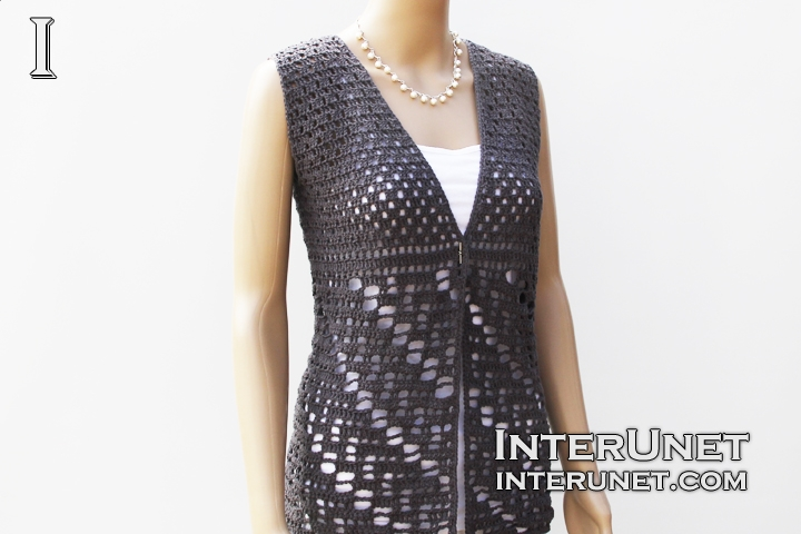 Vest jacket crochet pattern | interun