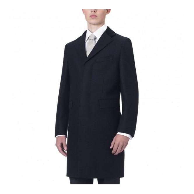 Crombie Black Retro Wool Coat 325