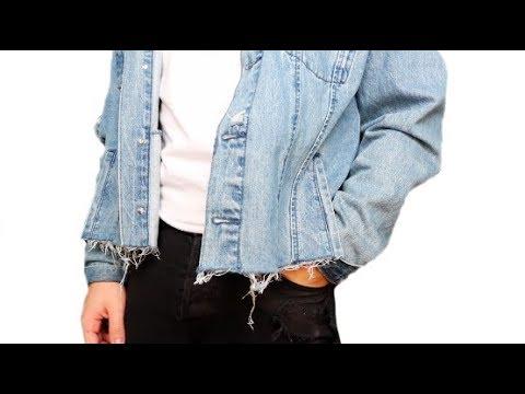 DIY | Men's Cropped Denim Jacket - YouTu