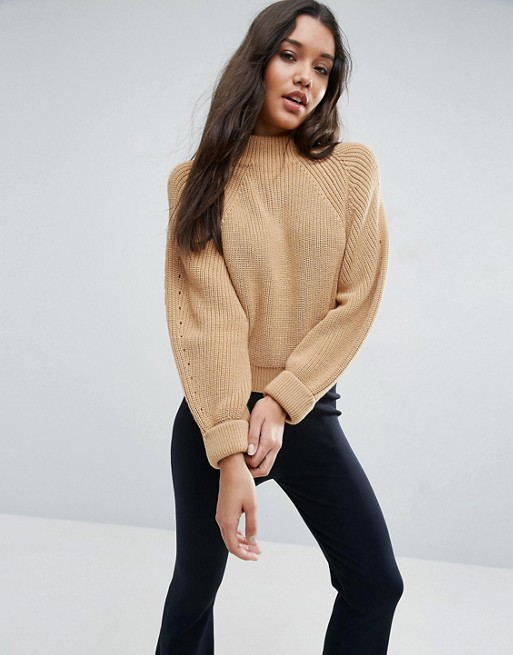 ASOS Cropped Sweater In Chunky Knit | AS