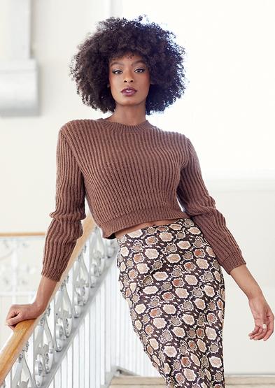 016 cropped sweater | Knitrow