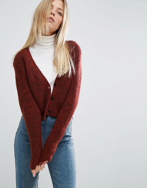 ASOS Cropped Cardigan with V Neck | AS
