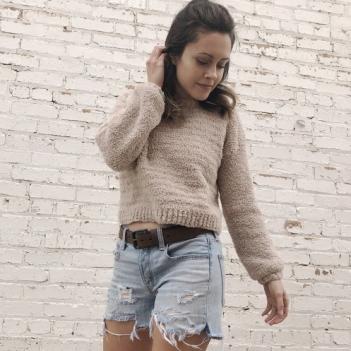 Cloud 9 cropped sweater - Free crochet patte