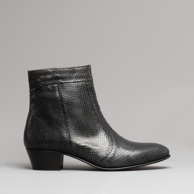 Club Cubano EMMANUEL Mens Snakeskin Leather Cuban Heel Boots | Shupe
