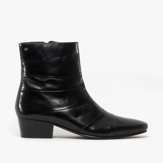 Club Cubano ANGELO ENRIQUE Mens Smooth Leather Cuban Heel Boots .