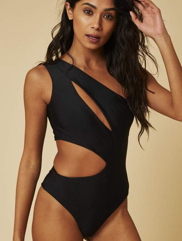Monaco Cut Out Black Swimsuit | Swimwear & Bikinis | Skinnydip Lond