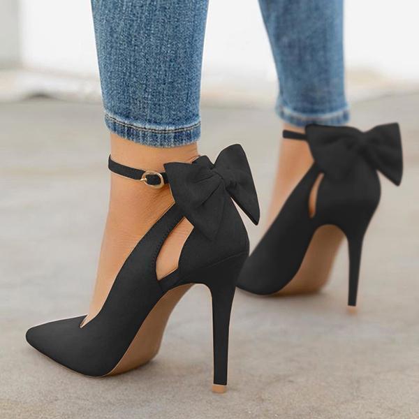 Variedshoes Women Cute Bowknot High Heels on Sa