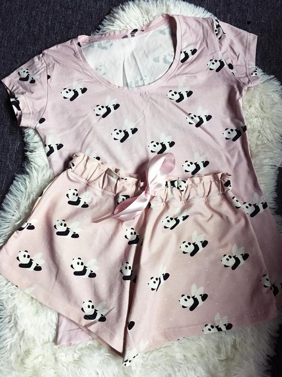Flying Panda Pajamas Women Pajamas-Cute Pajama Shorts and | Et