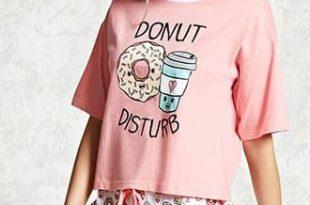 Donut Disturb Pajama Set   Pajama set women, Cute outfits, Cute .
