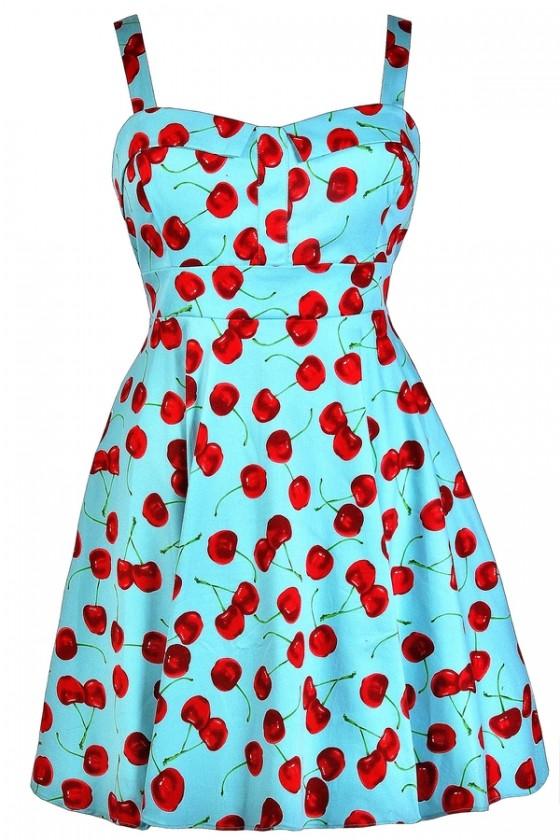 Cute Plus Size Dress, Plus Size Cherry Dress, Plus Size Retro .